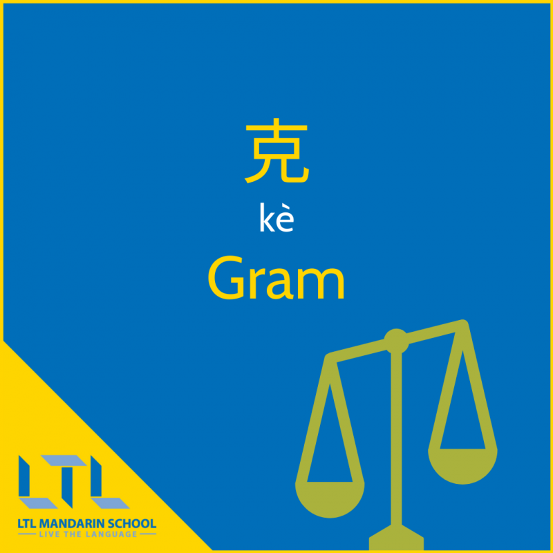 Measurements in Chinese - Grams