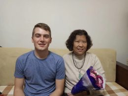 Noah with his Chinese Homestay