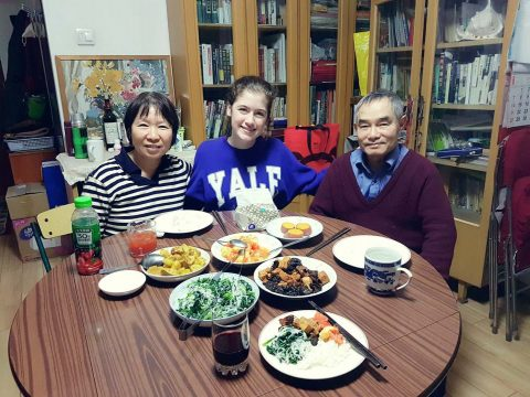 Homestay in Xi'an - Savannah with her family
